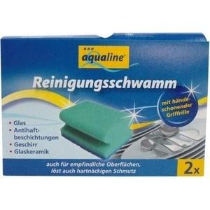 Губка Aqualine для мытья посуды деликатных материалов, 2 шт
