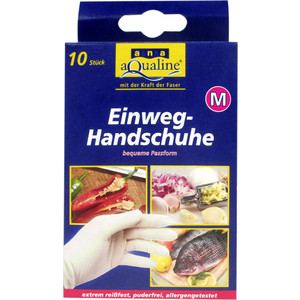 Бытовые одноразовые перчатки Aqualine 10шт. (размер средний M)