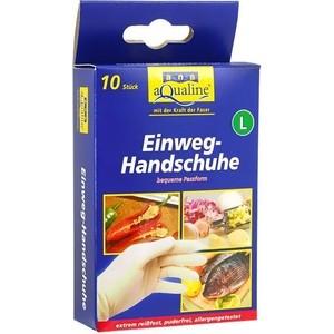 Бытовые одноразовые перчатки Aqualine 10шт. (размер большой L)