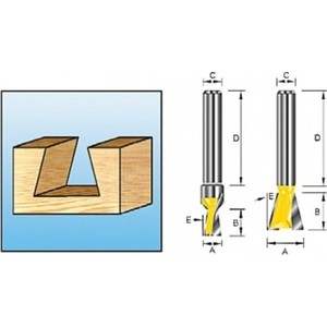 Фреза Makita ласточкин хвост 8 мм 9,5х32/9,5 (D-10883)