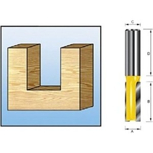 Фреза пазовая Makita 2лезвия, 12 мм 15 длина 35 (D-10419)