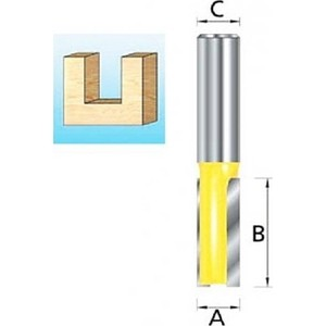 Фреза пазовая Makita 2лезвия, 12 мм 25 длина 35 (D-10475)