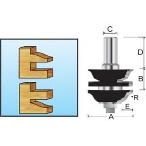 Фреза рамочная Makita 8 мм 41х38/23,8 мм R-4,76 мм (D-11944) стоимость