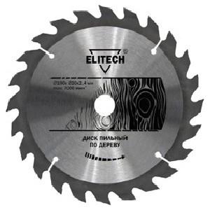 Диск пильный Elitech 250 мм х32/30 ммх2,8 мм 24 зуба (1820.056300) диск пильный практика 030436 200 32 30мм 24 зуба дерево