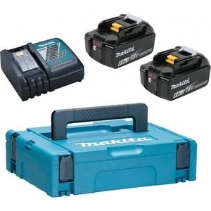 Набор аккумуляторов и зарядное устройство Makita DC18RC-1 шт, BL1860B-2 шт (198118-0)