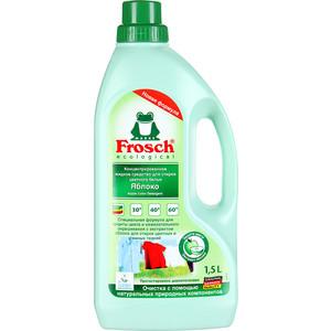 Концентрированное жидкое средство Frosch для стирки цветного белья Яблоко, 1.5 л жидкое средство для стирки белого белья лимон frosch 2 л