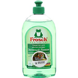 Средство для мытья посуды Frosch Зеленый лимон, 500 мл средство для посуды aro лимон