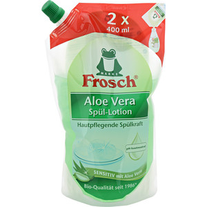 Средство для мытья посуды Frosch Алоэ Вера (запасная упаковка), 800 мл