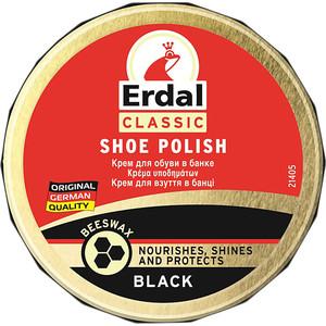 Крем для обуви ERDAL для обуви черный (банка), 75 г. краска для кожи erdal