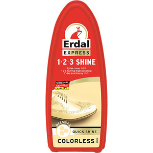Губка-глянц ERDAL 1-2-3 (бесцветный) краска для кожи erdal