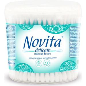 лучшая цена Ватные палочки NOVITA Delicate 200 шт в банке