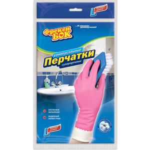 Перчатки хозяйственные ФРЕКЕН БОК 2шт универсальные плотные розовые L