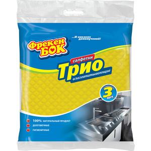 Салфетки ФРЕКЕН БОК Трио Целлюлозные для уборки хозяйственные 3шт хозяйственные товары