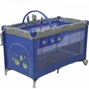 Манеж кровать Mille DELUXE 60 х120( blue) 2 уровня,сумка G120DLX