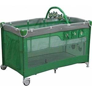 Манеж кровать Mille DELUXE 60 х120( green) 2 уровня,сумка G120DLX