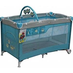 Манеж кровать Mille DELUXE 60 х120( turquiose)2 уровня,сумка G120DLX