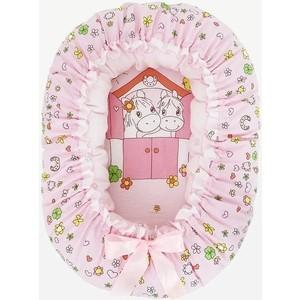 Подушка валик гнездо Золотой гусь Лошадка розовый 8206