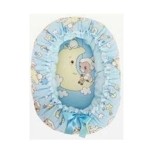 Подушка валик гнездо Золотой гусь Овечка на луне голубой 8222