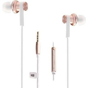 Наушники с микрофоном Xiaomi Mi In-Ear Headphones Pro gold наушники mi in ear headphones basic pink