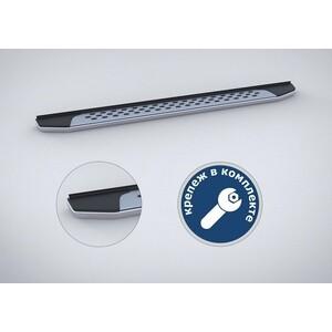 Пороги Bmw-Style овалы Rival для Skoda Yeti (2009-2014 / 2014-н.в.), 173 см, алюминий, B173AL.5101.1