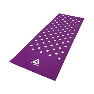 цена Коврик для фитнеса Reebok RAMT-12235PL (мат) Белые Пятна 7 мм пурпурный онлайн в 2017 году