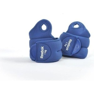 Утяжелители Reebok RAWT-11071BL на запястья Elements 1 кг синие (пара)
