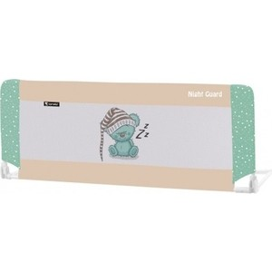 Защитный барьер для кроватки Lorelli 1018002 Бежево-зеленый / Beige&Green Sleeping Bear 1802