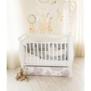 Кровать детская AmaroBaby Sweet Bear, автостенка, маятник поперечного качания (белый)