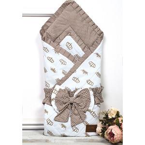 Одеяло на выписку AmaroBaby HAPPY (Royal коричневый, поплин/бязь)