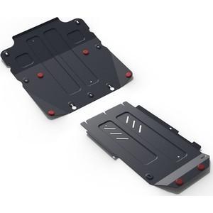 Защита картера, КПП и РК АвтоБРОНЯ для Genesis G70 4WD (2018-н.в.) / Kia Stinger (2018-н.в.), сталь 2 мм, K111.02841.1