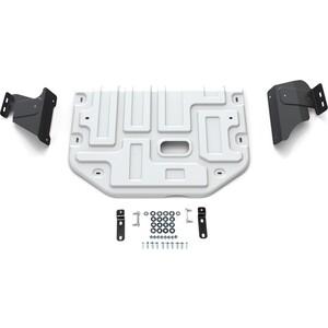 Защита картера и КПП Rival для Ford Tourneo Custom FWD (2013-н.в.) / Transit (2014-н.в.), алюминий 4 мм, 333.1867.1
