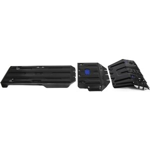 Защита радиатора, картера, КПП и РК Rival для Lexus GX 460 II (2009-2013 / 2013-н.в.) / Toyota LC Prado 150 (2009-2017 / 2017-н.в.), сталь 2 мм, с крепежом, K111.9516.1