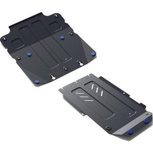 Защита картера, КПП и РК Rival для Genesis G70 4WD (2018-н.в.) / Kia Stinger 4WD (2018-н.в.), сталь 2 мм, с крепежом, K111.2841.1