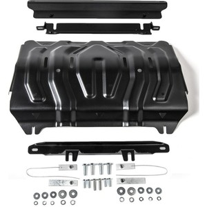 Защита радиатора Rival для Fiat Fullback (2016-н.в.) / Mitsubishi L200 V (2015-2018 / 2018-н.в.) / Pajero Sport III (2016-н.в.), сталь 3 мм, 222.4046.2 for yamaha mt 09 tracer 2015 2016 fj 09 tracer 2015 2016 steering damper stabilizer with mount bracket