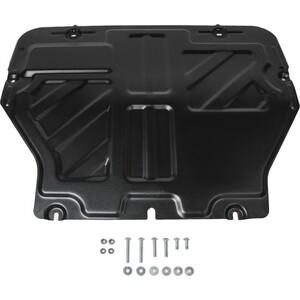 Защита картера и КПП Rival для VW Caravelle / Multivan / Transporter T5, T6 (2003-2015 / 2015-н.в.), сталь 2 мм, с крепежом, 111.5806.2 защита редуктора автоброня для volkswagen caravelle multivan transporter t5 t6 4wd 2003 н в сталь 2 мм 111 05845 1