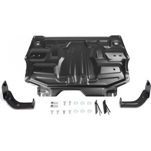 Защита картера и КПП Rival для Seat Ibiza IV (2008-2014) / Skoda Fabia II (2007-2015) Rapid (2012-2017 2017-н.в.), сталь 2 мм, 111.5842.1