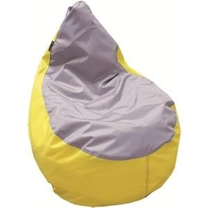 Пуф Комфорт - S Груша-3 оксфорд желтый/оксфорд серый