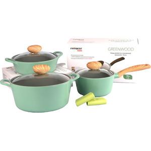 Набор посуды 5 предметов Frybest Greenwood (GREENWOOD-N20) цена 2017