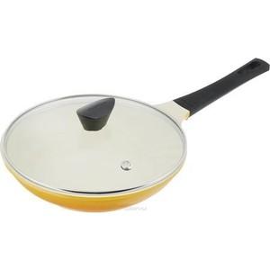 Сковорода с крышкой d 28 см Frybest Rainbow (CA-F28GK Rainbow) цены онлайн