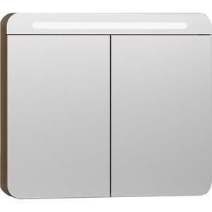 Зеркальный шкаф Vitra Nest Trendy 80 с подсветкой (56175) зеркальный шкаф roca etna 80 с подсветкой 857304445 дуб верона