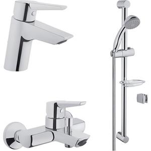 Комплект смесителей Vitra Solid S для раковины, ванны, душевой гарнитур