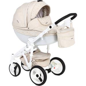 Коляска 2 в 1 Adamex Monte Carbon, молочный/кружево D40 GL000649988 коляска adamex avila лен коричневый