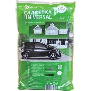 Салфетка GRASS из 100% микрофибры универсальная, 10 шт в упаковке