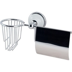 Фото - Держатель туалетной бумаги и освежителя Brissen Aster с крышкой (B2218) ершик для унитаза brissen aster b2208c