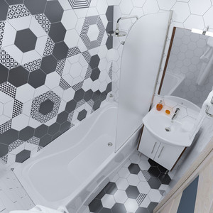 Акриловая ванна Triton Стандарт 160x70 с каркасом (Н0000099329, Щ0000041797)