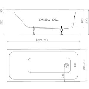 Акриловая ванна Triton Ультра 170x70 (Щ0000013002)