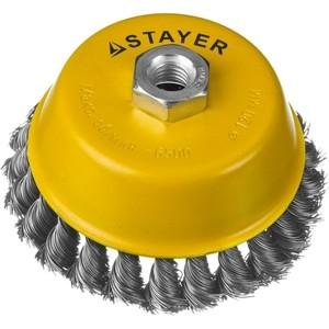 Корщетка-чашка Stayer Professional жгутированная 0,5 мм 120 хМ14 (35128-120)