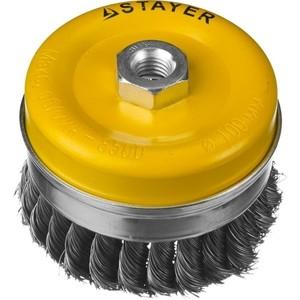 Корщетка-чашка Stayer Professional жгутированная 0,5 мм 100 хМ14 (35137-100)
