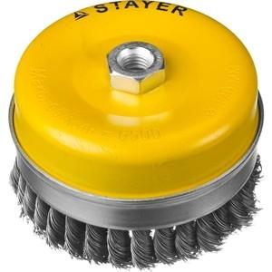 Корщетка-чашка Stayer Professional жгутированная 0,5 мм 120 хМ14 (35137-120)