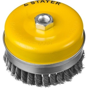Корщетка-чашка Stayer Professional жгутированная 0,5 мм 120 мм хМ14 (35137-120) фото